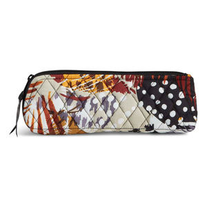 Brush & Pencil Case in Painted Feathers